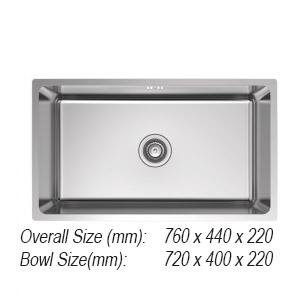 Sink 1. SQUARE-613 Rubine