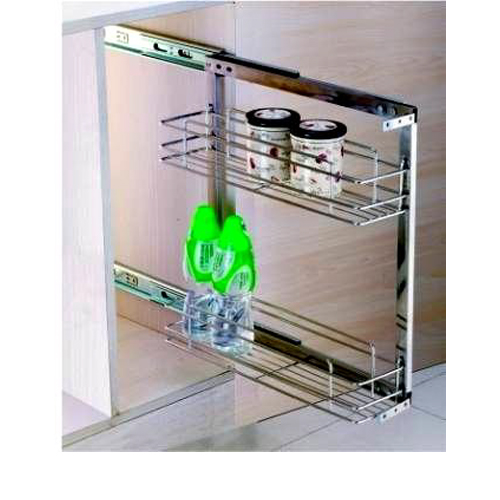 Two Tier Side Mounted Pull-out GE-008A Stainless Steel