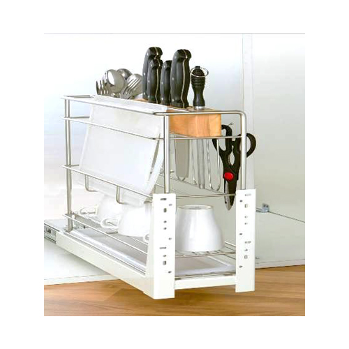 Multi-Purpose Pull-out Basket 200mm GE-009K Stainless Steel