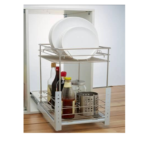 Three Layer 350mm Pull-out Basket GE-010D Stainless Steel