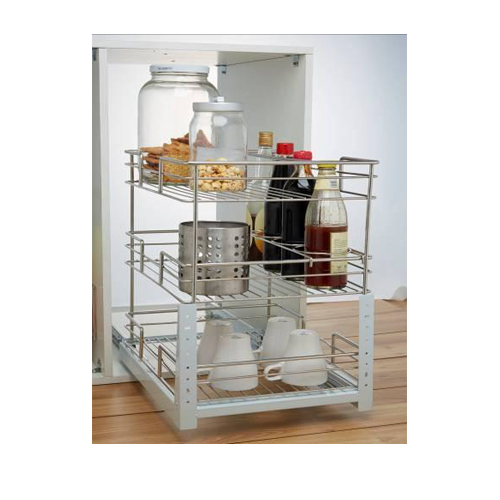 400mm Three Layer Pull-out Basket GE-010 Stainless Steel