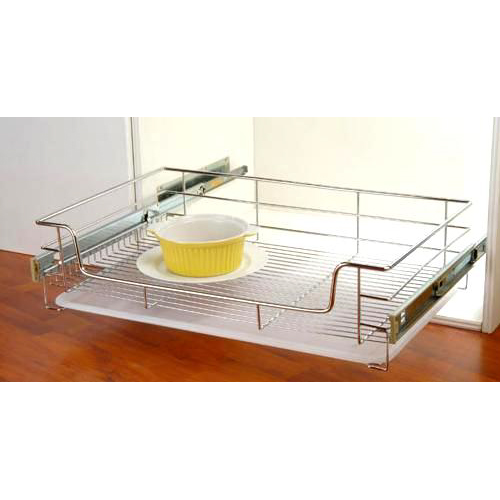 1a. Pull Out Basket With Plastic Tray GE-007B1 Stainless Steel