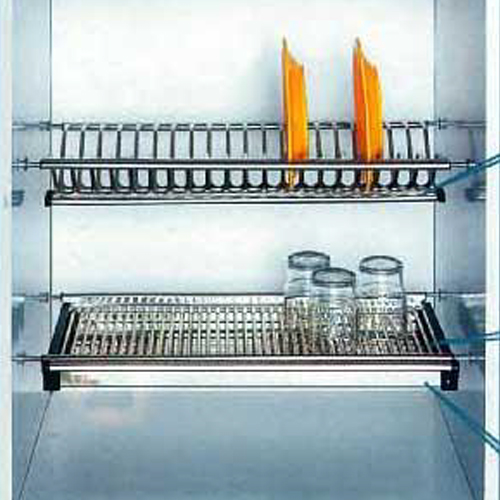 Double Layer Dish Rack GE-356 201 Grade Stainless Steel